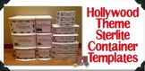Hollywood Theme Sterilite Container Templates