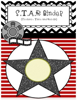 Hollywood Theme- Student Binder Cover