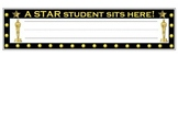 Hollywood Theme - Student Name Tag