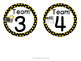 Hollywood Theme Table Numbers