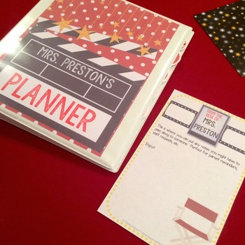 Hollywood Theme Teacher Lesson Planner