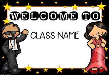Editable Hollywood Theme Welcome Signs