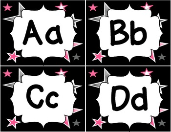 Hollywood Theme Word Wall Letters
