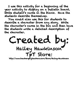 Hollywood Theme Writing Paper