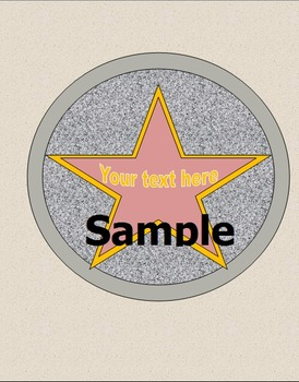 """Hollywood Themed 1"""" Binder Cover and Spine Insert"""