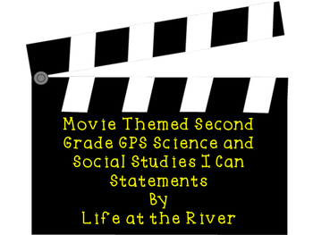 Hollywood Themed 2nd Grade Georgia Science and Social Studies I Can Statements