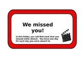 Hollywood Themed Absent Folder