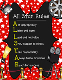 Hollywood Themed: All Star Classroom Rules