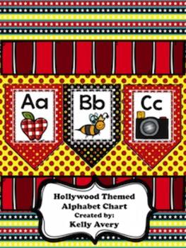 Hollywood Themed Alphabet Chart