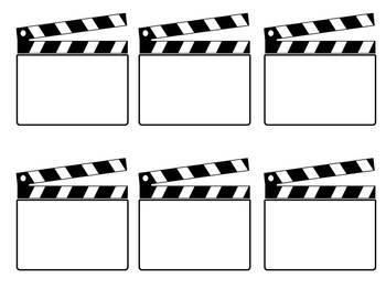 Hollywood Themed Blank Ca By Liz Ridgeway Teachers