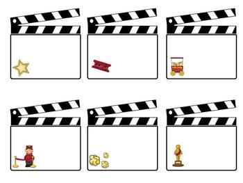Hollywood Themed {BLANK} Calendar Pieces