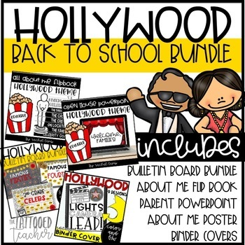 Hollywood Themed Back to School Bundle