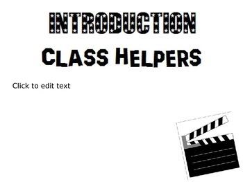 Hollywood Themed Back to School Night Presentation