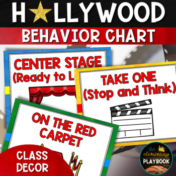 Hollywood Theme Classroom Decor: Behavior Chart