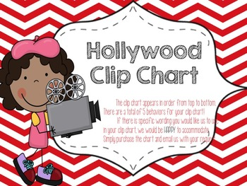 Hollywood Themed Behavior Clip Chart