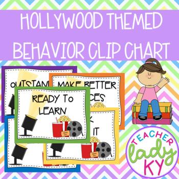 Hollywood Themed Behavior Clip Chart
