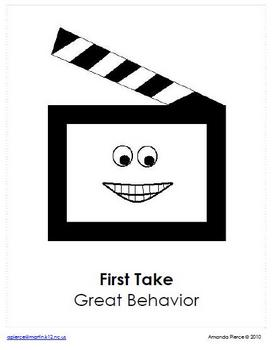 Hollywood Themed Behavior Clip Chart AND Take Home Chart - VER 2