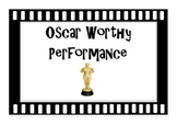 Hollywood Themed Behaviour Chart