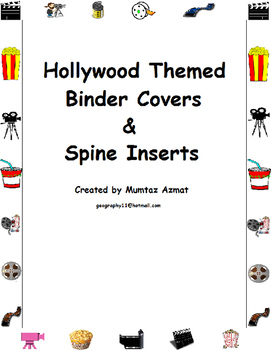 "Hollywood Themed Binder Covers&Spine Inserts 1"" With Chevr"
