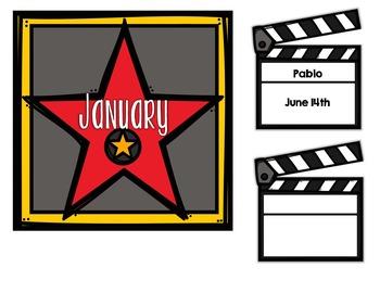 A Star is Born! Hollywood-Themed Birthday Bulletin Board Set