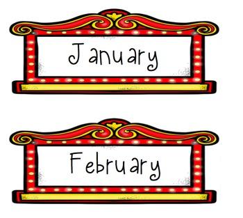 Hollywood Themed Birthday Chart - A Star is Born