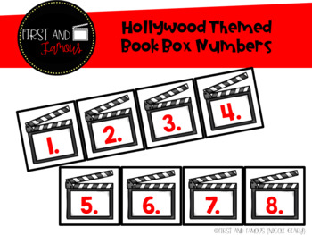 Hollywood Themed Book Box Numbers