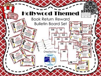 Hollywood Themed Book Return Reward Bulletin Board Set