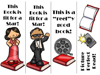 Hollywood Themed Bookmarks