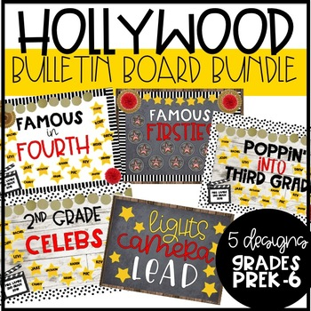 5 Hollywood Themed Bulletin Boards