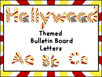 Hollywood Themed Bulletin Board Display Letters