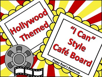 Hollywood Themed CAFE Board