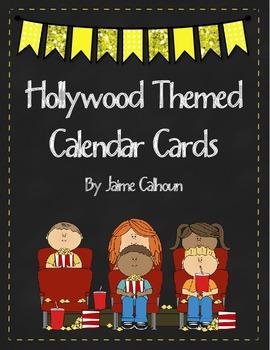 Hollywood Themed Calendar Cards