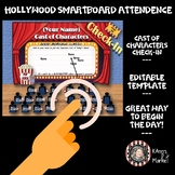 Smartboard Hollywood  Movie Themed Interactive Attendance Board! Cute & Editable