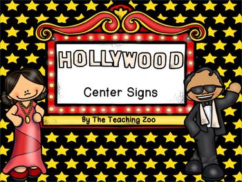Hollywood Themed Center Signs and Rotation Cards