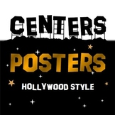 Hollywood Themed Centers Posters