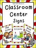 Hollywood Themed Classroom Center Signs