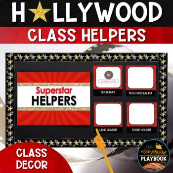 Hollywood Theme Classroom Decor: Classroom Jobs