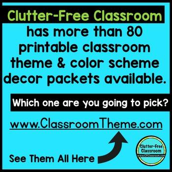 HOLLYWOOD THEME Classroom Decor - 3 EDITABLE Clutter-Free Classroom Decor BUNDLE