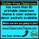 HOLLYWOOD THEME Classroom Decor - 3 EDITABLE Clutter-Free