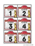 Hollywood Themed Classroom Numbers (White)
