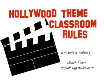 Hollywood Themed Classroom Rules