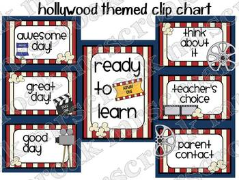 Clip Chart: Hollywood Themed