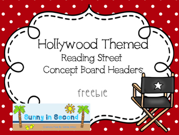 Hollywood Themed Concept Board Headings - Reading Street