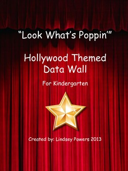 Hollywood Popcorn Themed Data Wall for Kindergarten