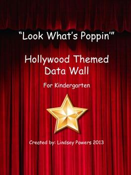 Hollywood Popcorn Themed Data Wall for Kindergarten