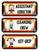 Hollywood Themed Editable Classroom Job Chart
