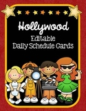 Hollywood Themed Editable Daily Schedule Cards
