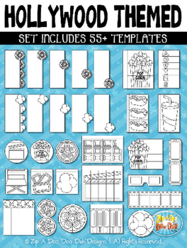 Hollywood Flippable Interactive Templates {Zip-A-Dee-Doo-Dah Designs}