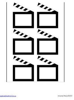 Hollywood Themed Helper Chart