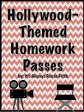 Hollywood-Themed Homework Passes